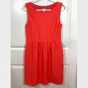 J. Crew Coral Mini Fit & Flare Mini Dress Sz 10